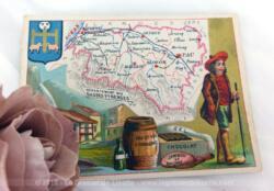 Voici une belle chromo du département des Basses Pyrénées datant de 1876. C'est une image de 11.5 x 8.5 cm sur papier cartonné avec toutes les caractéristiques de l'époque.