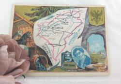 Voici une belle chromo du département du Doubs datant de 1876. C'est une image de 11.5 x 8.5 cm sur papier cartonné avec toutes les caractéristiques de l'époque.