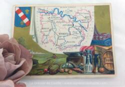 Voici une belle chromo du département de l'Eure datant de 1876. C'est une image de 11.5 x 8.5 cm sur papier cartonné avec toutes les caractéristiques de l'époque.