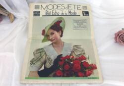 Revue Le Petit Echo de la Mode Hors série Mai 1937 en grand format, véritable trésor vintage de 82 ans avec plus de 100 modèles... tout le mystère de l'élégance pour l'été 1937 !