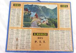 Almanach des PTT pour l' année 1965 avec feuillets complémentaires.