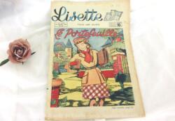 """Ancienne revue Lisette du 25 septembre 1949, numéro 39 de la 29eme année sur 16 pages portant le titre de """"Le Portefeuille !"""""""