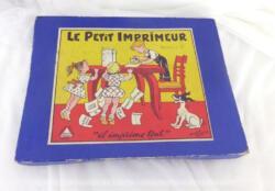 """Voici un ancien jeu """"Le Petit Imprimeur"""" avec son matériel, ses petites lettres, sa pince à épiler et son tampon encreur un peu sec...."""