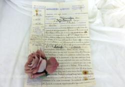 Ancien Procès Verbal de Gendarmerie de 1933, avec tous les détails et rempli à la plume à l'encre sépia concernant un détournement de meubles.