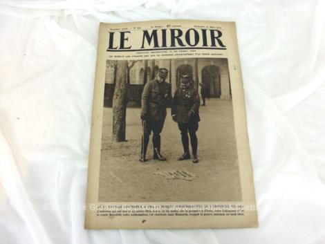 """Ancienne revue """"Le Miroir"""" du 16 mars 1919. Sur 16 pages dédiée aux perspectives et avenir de certains pays à la fin de l'armistice française de la guerre 14-18."""