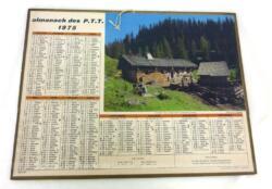 Ancien almanach des P.T.T. de 1975 Chalet aux Lindarets avec 5 feuillets supplémentaires sur le département de la Meurthe et Moselle !