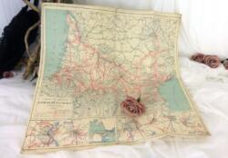 Voici une ancienne carte du Réseau des Chemins de Fer du Midi de 1918 et daté de 1919.