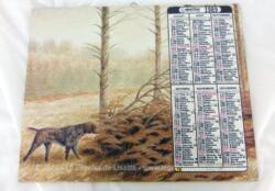 Ancien almanach des P.T.T. de 1989 avec des dessins représentant des chiens de chasse. C'est un almanach Oberthur avec 12 feuillets supplémentaires dont deux dessins superbes de la collections Oberthur.