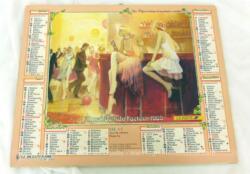 Ancien almanach des P.T.T. de 1989 avec des dessins représentant des scènes des années 1900 des 2 cotés. Il y a 10 feuillets supplémentaires plus un grand poster de Madonna.