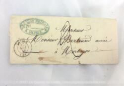 Ancienne petite lettre pli du 16 mai 1846 de 174 ans, écrite par l'Etude de Desclos - Huissier à L'Aigle, adressée à un avoué à Mortagne.