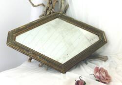 miroir, losange, brocante, vintage, rétro, décoration,