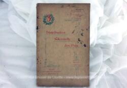 """Voici une brochure de """"Distribution Solennelle des Prix""""au Pensionnat de Demoiselles Dohem du mercredi 6 Aout 1902."""