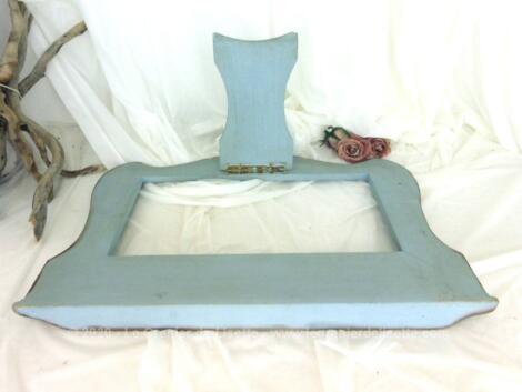 Ancien grand lutrin pupitre bleu