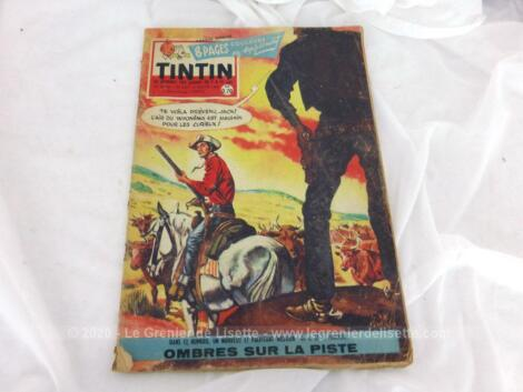 Ancien journal Tintin du 21 janvier 1960 correspondant au numéro 587 de la 12° année, avec dans ce numéro un nouveau et palpitant western.