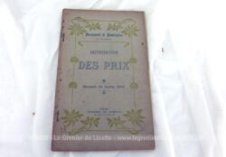 """Voici une brochure de """"Distribution des Prix"""" au Pensionnat de Demoiselles à Dohem du mercredi 31 juillet 1907"""