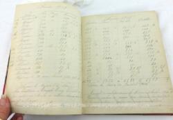 Sur 17 x 22 cm, voici un ancien carnet d'enregistrement des encaissements de loyers d'une grande maison sur la période de 1915 à 1948.
