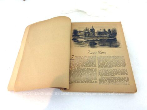 """Superbe livre de """"Paris 1943"""" """"Arts Lettres"""" édité par la Ville de Paris, sur tous les événements culturels, artistiques, littéraire et même musicaux de l'année 1943."""