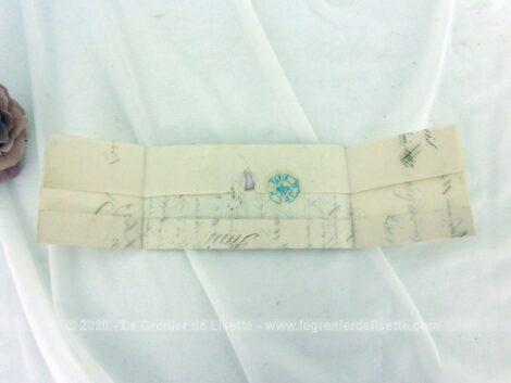 Ancienne petite lettre pli du 6 février 1847 âgée de 174 ans, expédiée de Bordeaux pour Paris et concernant des ventes de marchandises.