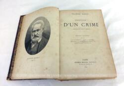 livre, XIX, victor hugo, histoire d'un crime, Napoleon, vintage,