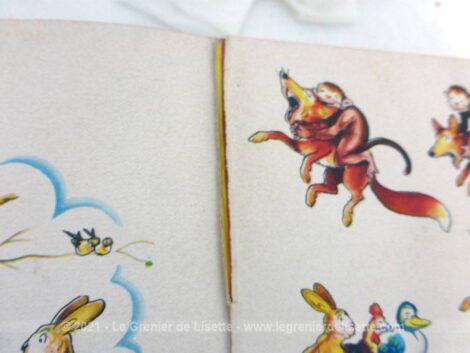 Voici Ouistiti Le Malin Singe, un livre pour enfants daté 1953 de Benjamin Rabier de la collections Les Albums Roses.