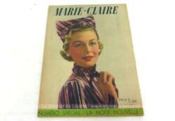 """Ancienne revue Marie-Claire du 10 septembre 1937, numéro spécial sur """"La Mode Nouvelle"""" de 31 x 24 cm, véritable trésor vintage de 82 ans avec des modèles à copier vite vite... pour retrouver toute l'élégance de l'automne 1937 !"""