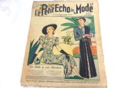 Ancienne revue Le Petit Echo de la Mode du 8 aout 1937 en grand format, véritable trésor vintage de 84 ans