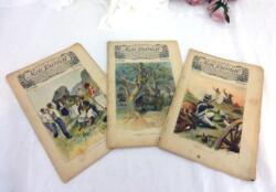 Voici un trio d'anciennes revues Mon Journal, revue pour enfants avec le numéro 35 du 30 mai 1896, le numéro 36 du 6 juin 1896 et le numéro 37 du 13 juin 1896.