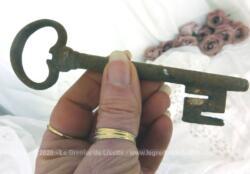 Voici une ancienne grosse clé de manoir paneton forme Z de 13 cm de long avec toute sa belle patine d'origine remplie d'authenticité.
