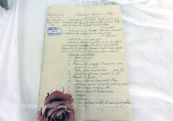 Ancien document du Tribunal Commerce de Dax concernant l'inventaire d'une liquidation judiciaire datée de 1914 avec tous les détails et rempli à la plume à l'encre sépia sur trois feuillets.