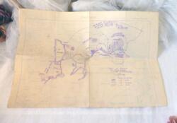 Au dos d'une partie d'une ancienne carte, on découvre dessiné à la main l'Ordre de Bataille des Forces Ennemies à la date 15 juillet 1917, lors de la bataille de Monastir.