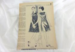 """Ancien supplément hebdomadaire de la revue """"Femmes d'Aujourd'hui"""" du 25 octobre 1967, vous trouverez des patrons de robes, de broderie et de pulls pour enfants au tricot."""