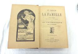 """Ancien livre intitulé """"Le Trésor de la Famille - Encyclopédie des connaissances Utiles dans la vie Pratique"""", par J.P. Houzé, 17eme édition de 1008 pages et datant des années 40/50."""