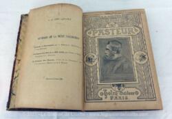 """Ancien livre """"Un Médecin sans Diplôme, Pasteur"""" de M. de Préville daté de 1897 avec de nombreuses illustrations et sa reliure en carton un peu usée. Très très intéressant....."""
