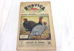 """Ancienne revue """"Rustica"""" du 17 mai 1936, le """"Journal Universel de la Campagne"""" correspondant au numéro 20 de la 9° année, au prix de 50 centimes."""